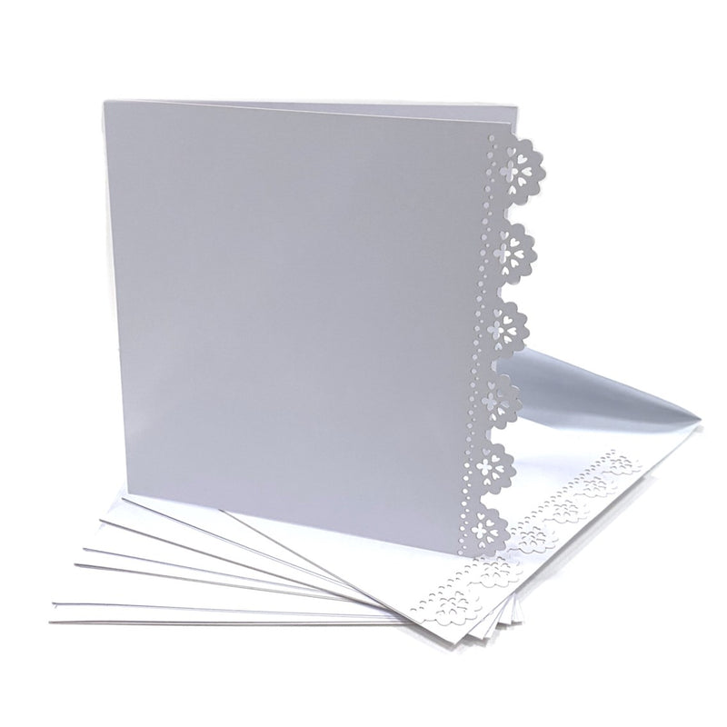 Kraft Collection Decorative Blank Square Cards & Envelopes White