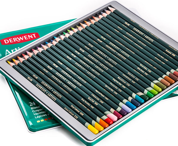 Derwent Artists Colouring Pencils in Tin Set
