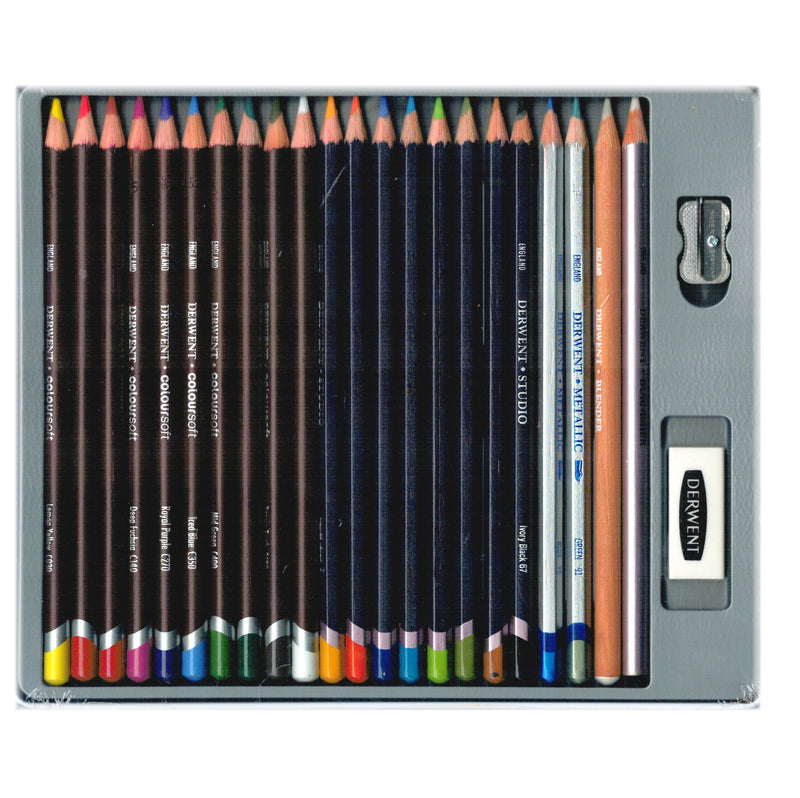 Derwent Pencils Collection 24pk Mixed Media Drawing Set