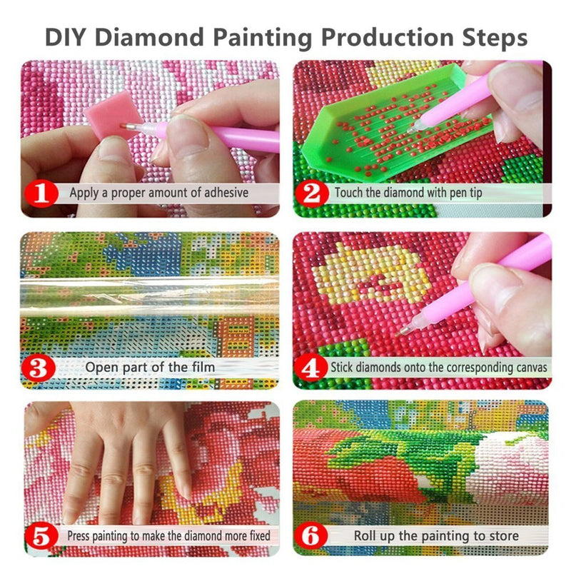 5D Picture 5D Diamond Art Painting Canvas Kit Kitten