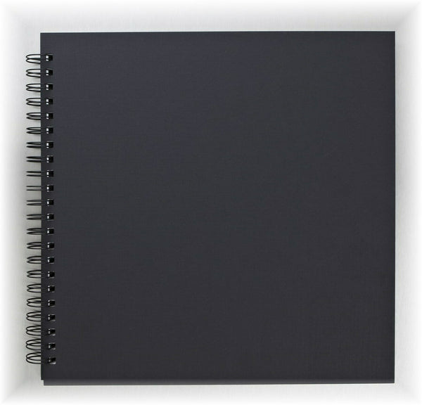 80 pages Black Double Spiral Sketch Book / Scrapbook Album - Daler Rowney