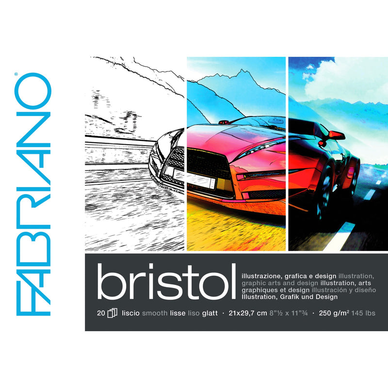 Fabriano Bristol Card Paper Pad - A4 250gsm