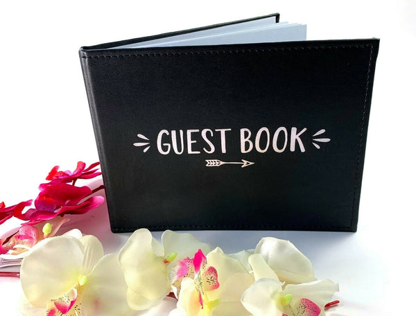 Black 18th 21st Birthday Wedding Party Guest Book