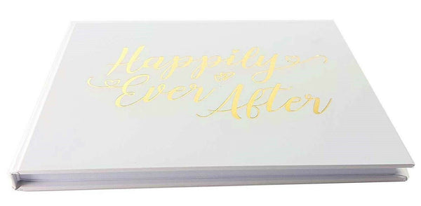 Wedding Guest Book Keepsake - HAPPILY EVER AFTER