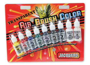 Jacquard Airbrush Colours 9pk - Metallic, Transparent or Opaque Available