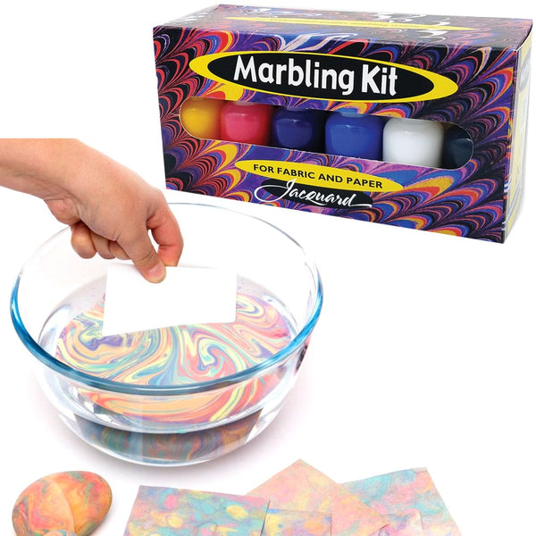 Jacquard Marbling Kit Paints / Inks for Fabric & Paper MADE IN USA