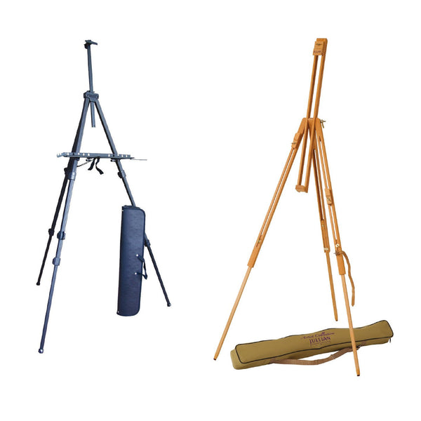 JULLIAN Artists Wood Easel Display Stand + Carry Bag