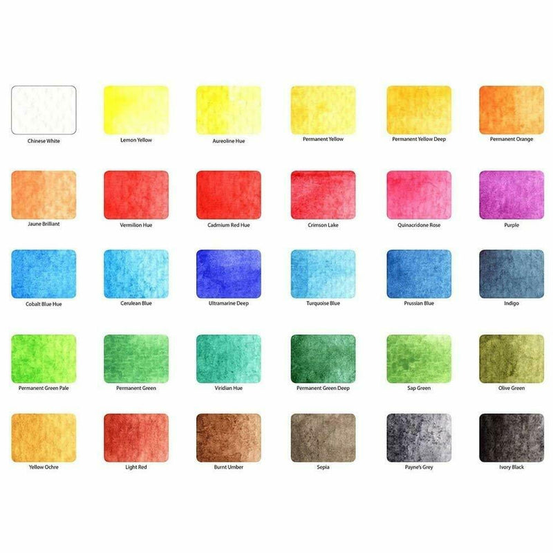 Koi Sakura KOI Pocket Field Sketch Box Watercolour Paints Set - 30 Pans