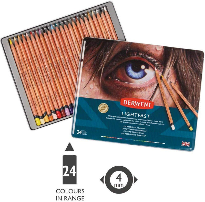 Derwent Derwent Artists 100% Lightfast Pencils Tin Set