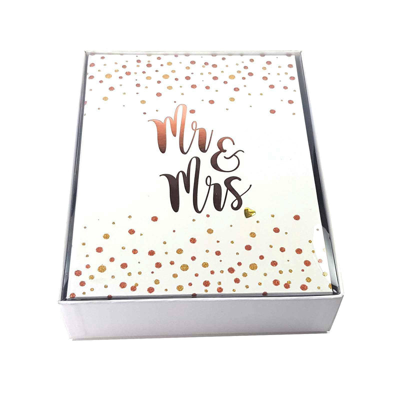 Wedding Planner Organiser with Glitter & Ribbon - MR & MRS