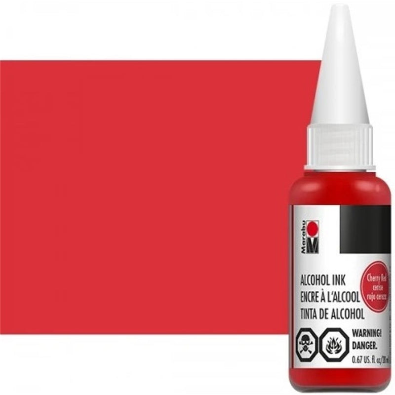 Marabu Alcohol Ink 20ml - Cherry Red