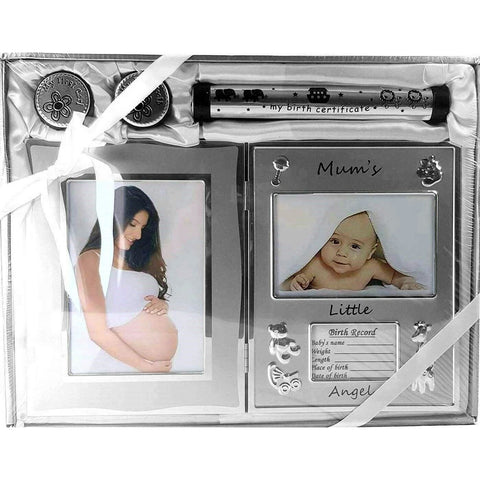 Baby's Birth Record, Firsts and Photo Frame Gift Set - Unisex