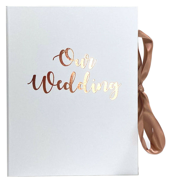 Wedding Planner Organiser with Ribbon - OUR WEDDING