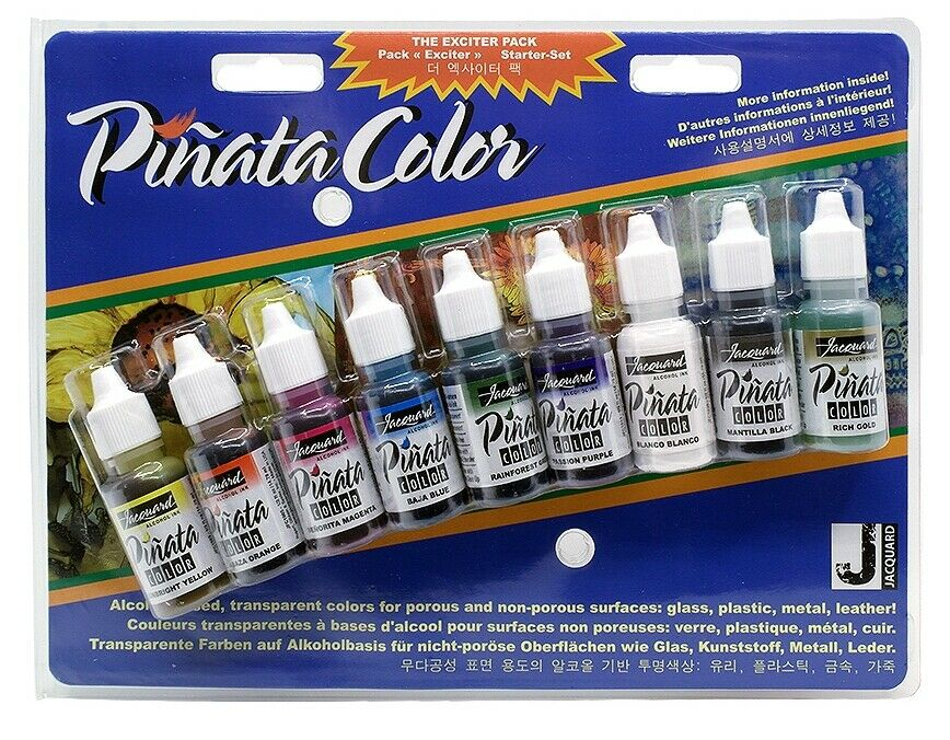 Jacquard Pinata Alcohol Inks Bottles Exciter Pack - 9 Colours