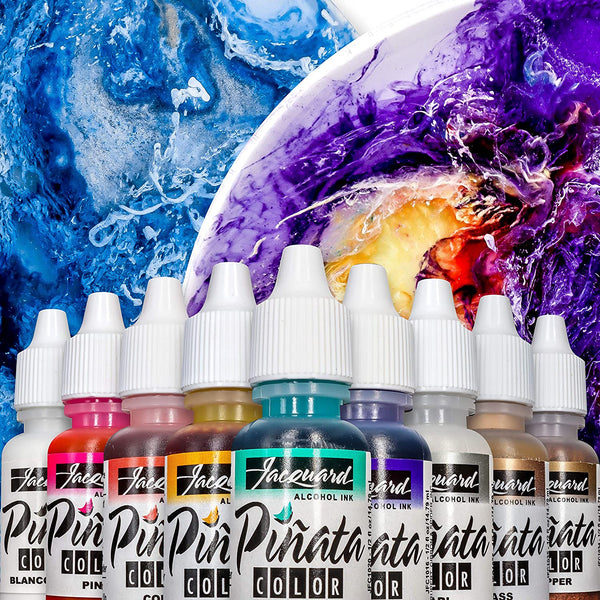 Jacquard Pinata Alcohol Inks Bottles Overtones - 9 Colours