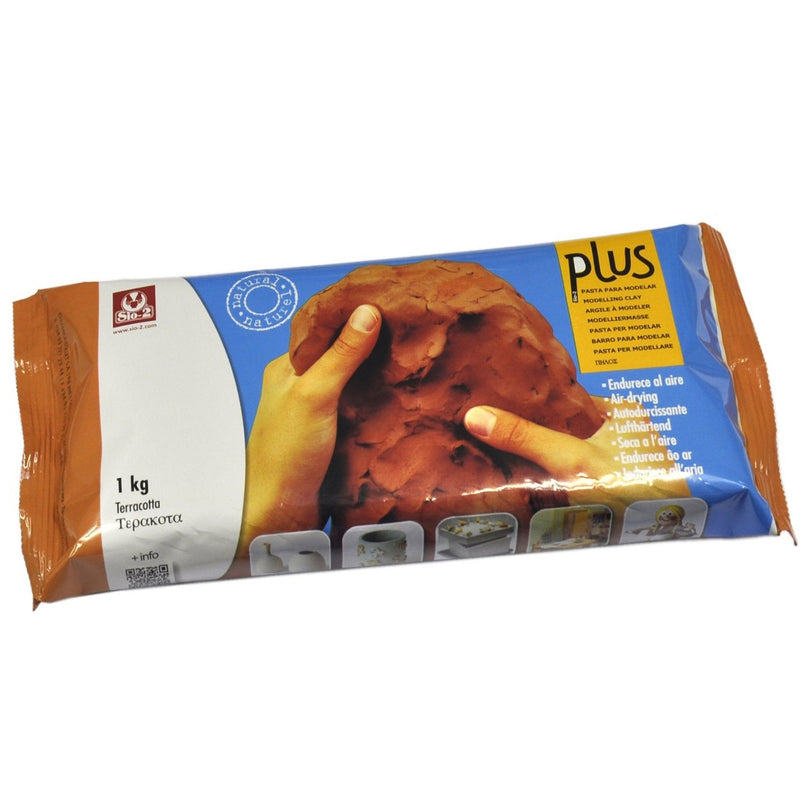 Sio-2 Plus Air Drying Modelling Clay - Terracotta 1Kg