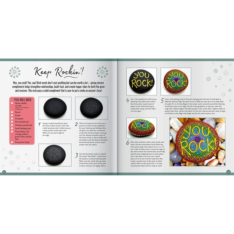 Hinkler Hinkler Positivity Rock Painting Kit