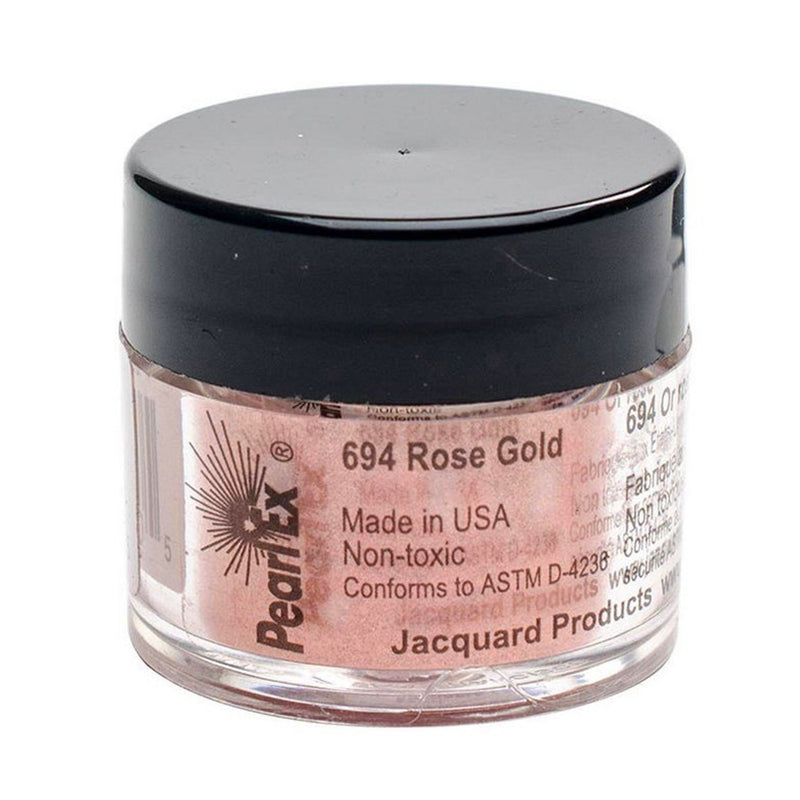 Jacquard Pearl Ex Mica Dry Powder Pigments - Rose Gold 3gm