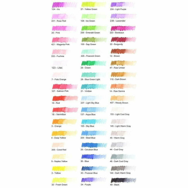 SAKURA Artists Brush Pens Markers Gift Box - 48 Brilliant Colours