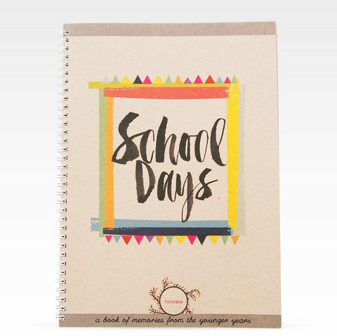 School Days memories for my kids - Record Book Journal Scrapbook