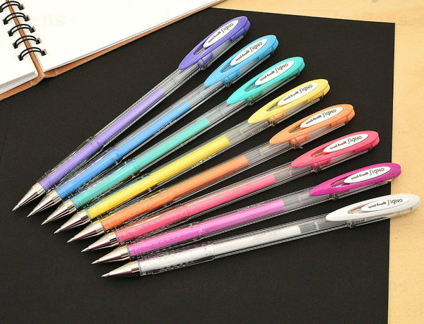 Uni-Ball 8pk ANGELIC Signo Roller Ball Point Gel Pens Pigment Ink