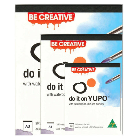 Yupo Ultra Synthetic Paper Pad 200gsm 20 Sheets - A5, A4 or A3