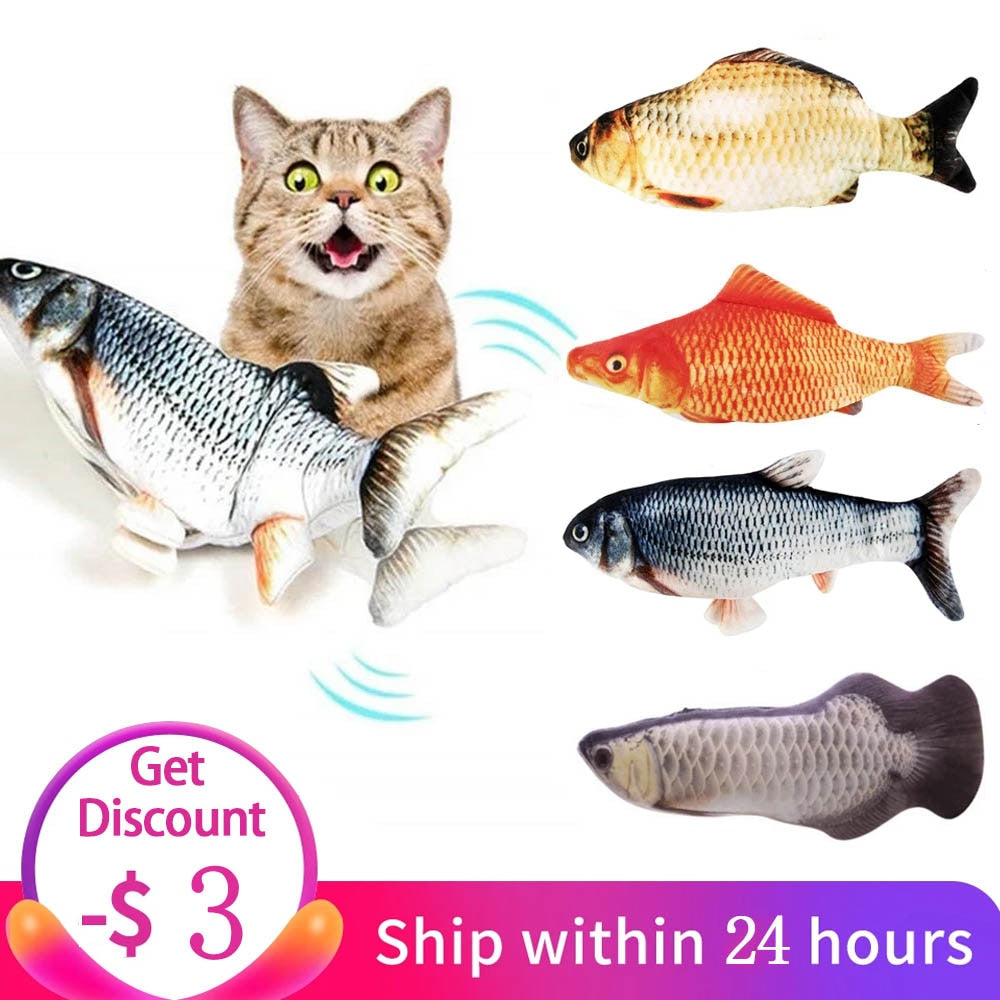 Electric Cat Toy 3D Fish USB Charging Simulation Fish Interactive Cat Toys for Cats Pet Toy cat supplies juguetes para gatos