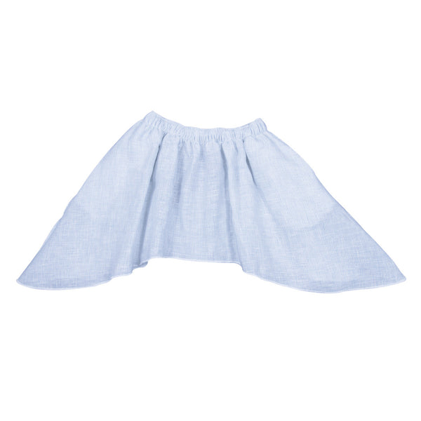 Linen Skirt in Light Blue