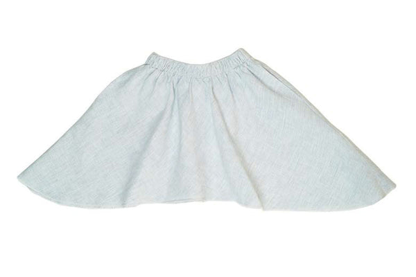 Linen Skirt in Beige