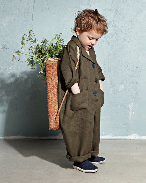 Ode jumpsuit in Khaki 👶