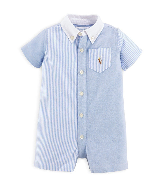 RALPH LAUREN Baby Boy Fun Cotton Oxford Shortall