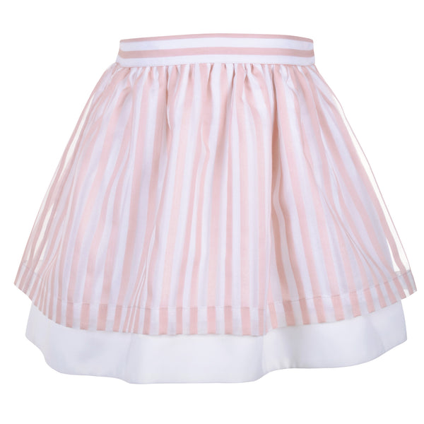 Organza Stripe Tiered Skirt