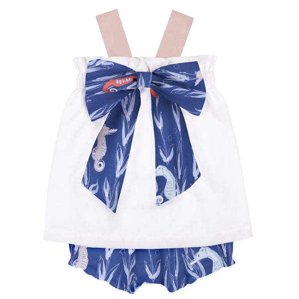 Bow Sundress & Bloomer Set