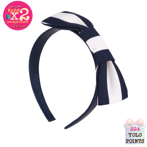 Giant Stripe Bow Hairband