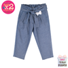Reverse Chambray Pleat Trousers