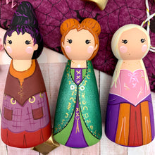 Load image into Gallery viewer, Hocus Pocus Peg Dolls