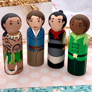 Large Princes and Heros Peg Dolls