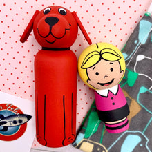 Load image into Gallery viewer, Clifford The Big Red Dog Peg Dolls