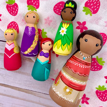 Load image into Gallery viewer, Mini Princess Peg Dolls