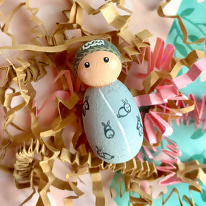 Custom Family Peg Doll Portrait