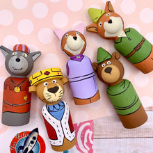 Load image into Gallery viewer, Robin Hood Peg Dolls