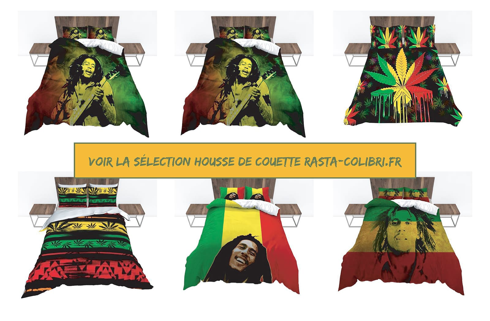 Collection d'housse de couette rasta colibri