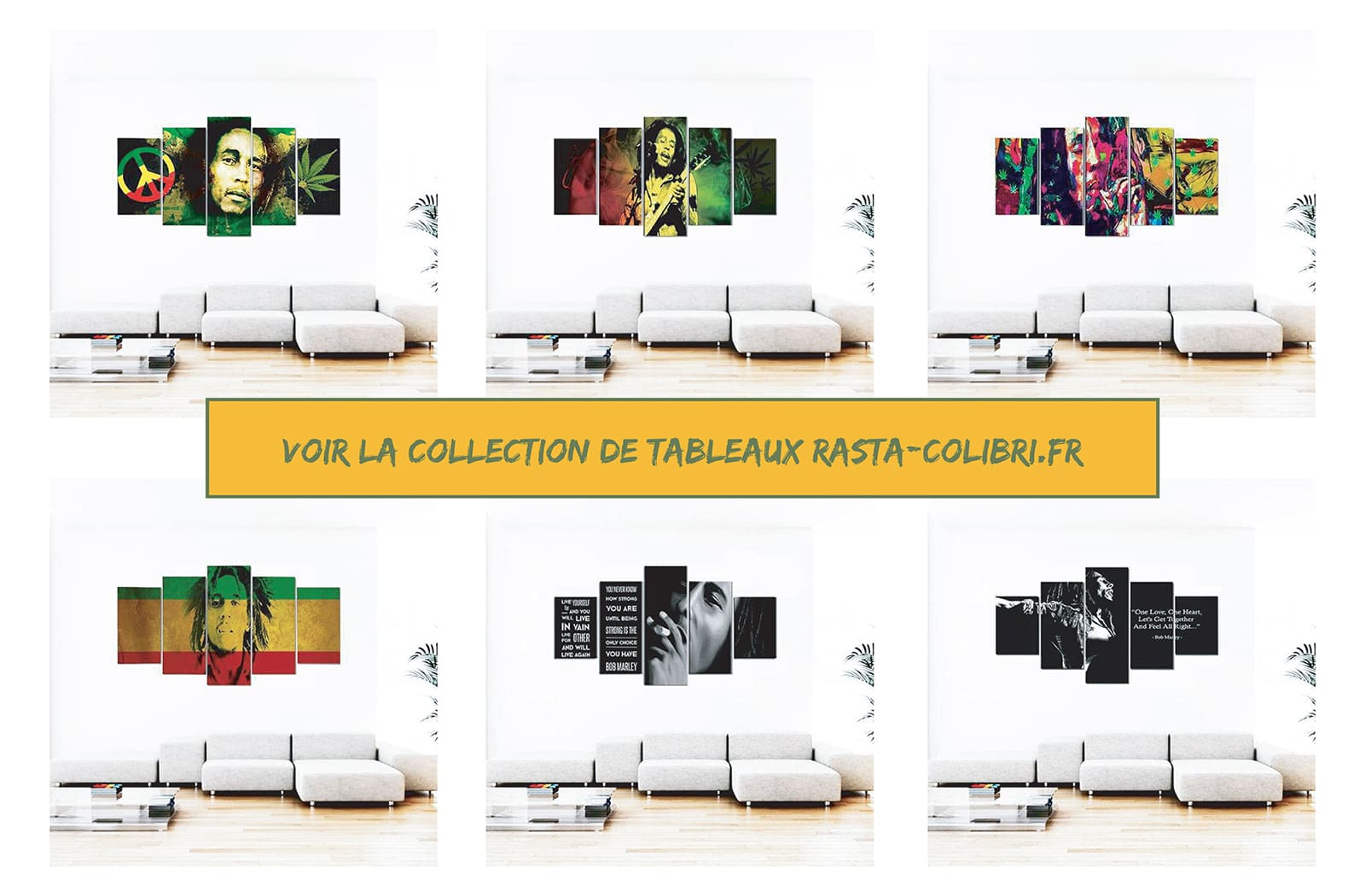 Collection de tableaux de Bob Marley