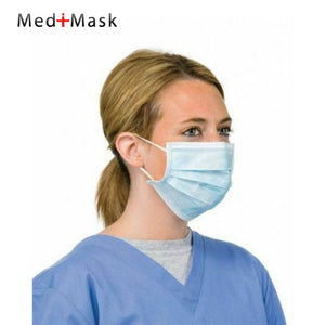 Flu Medical Face Mask UK Hospital Grade Earloop Coronavirus Protection in Blue