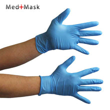 Load image into Gallery viewer, Nitrile Gloves Powder Free In Blue Boxed 100pcs