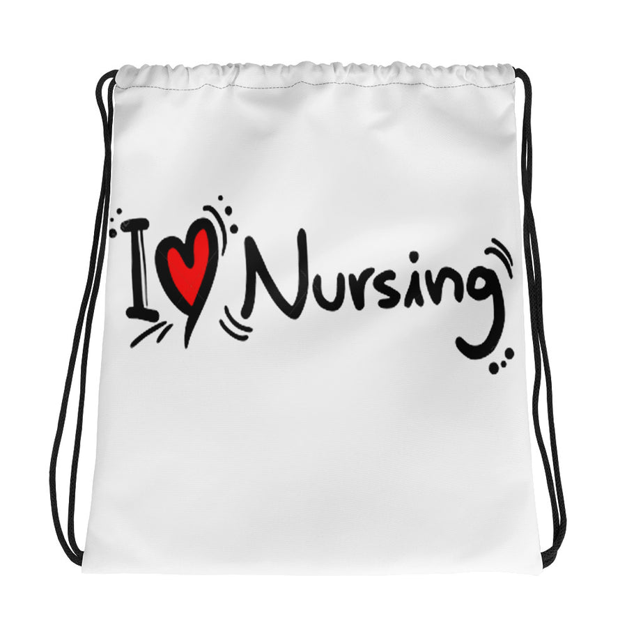 I Love Nursing - Drawstring bag