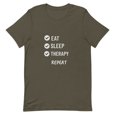 Eat, Sleep, Therapy, Repeat Short-Sleeve Unisex T-Shirt