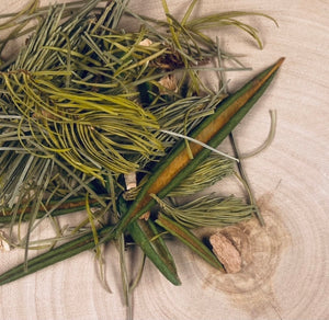 Beautiful foraged Labrador tea basket