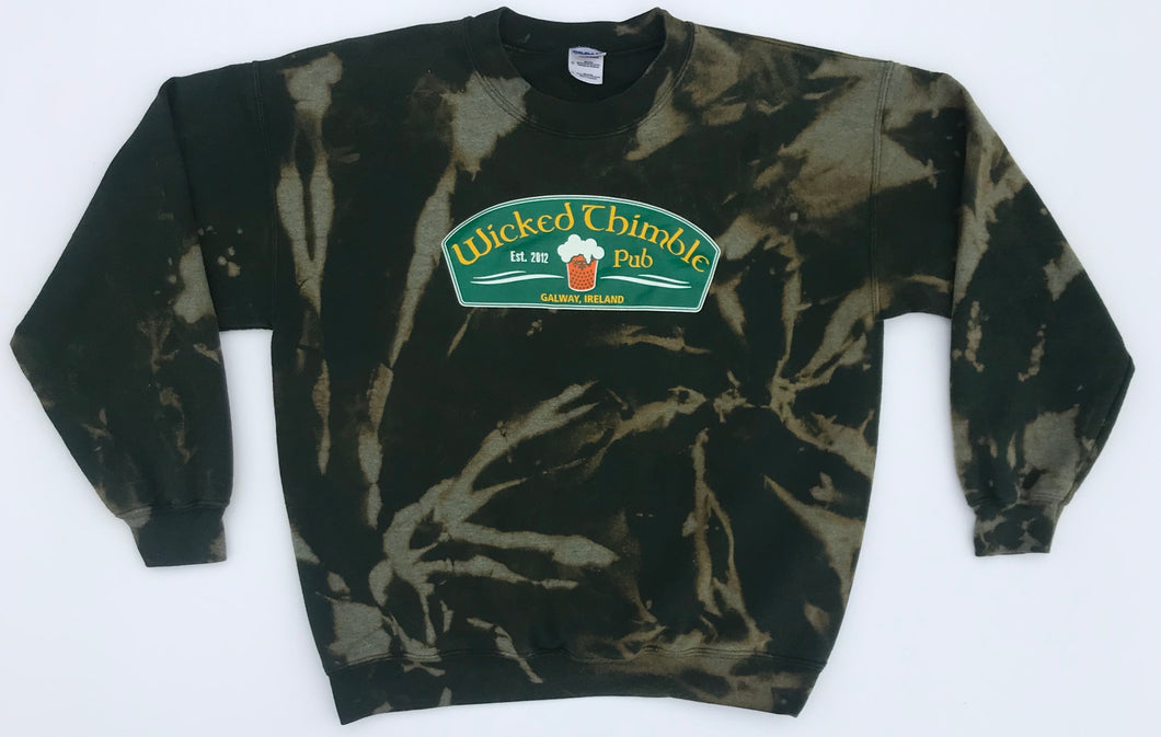 Wicked Thimble -Hand Bleached- Crewneck