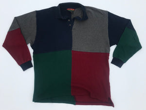 Block Style Long Sleeve Polo